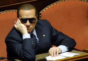Italy's former prime minister Silvio Berlusconi attends a session at the Senate in Rome
