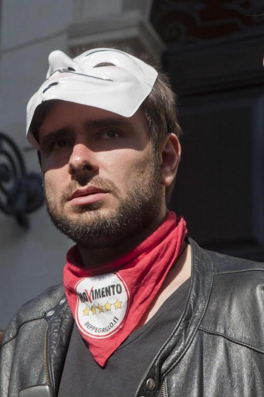 M5S - corteo di protesta per l'elezione Presidente della Repubblica Napolitano