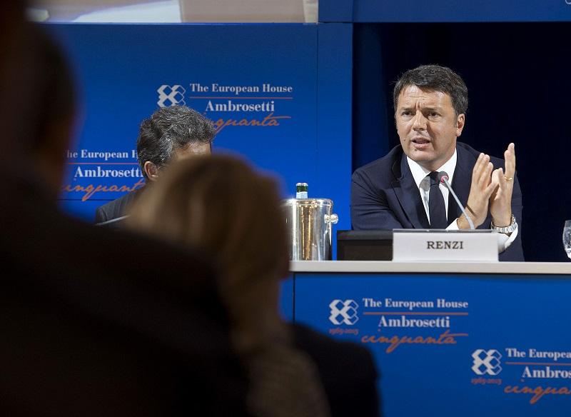 Matteo Renzi in visita a Cernobbio