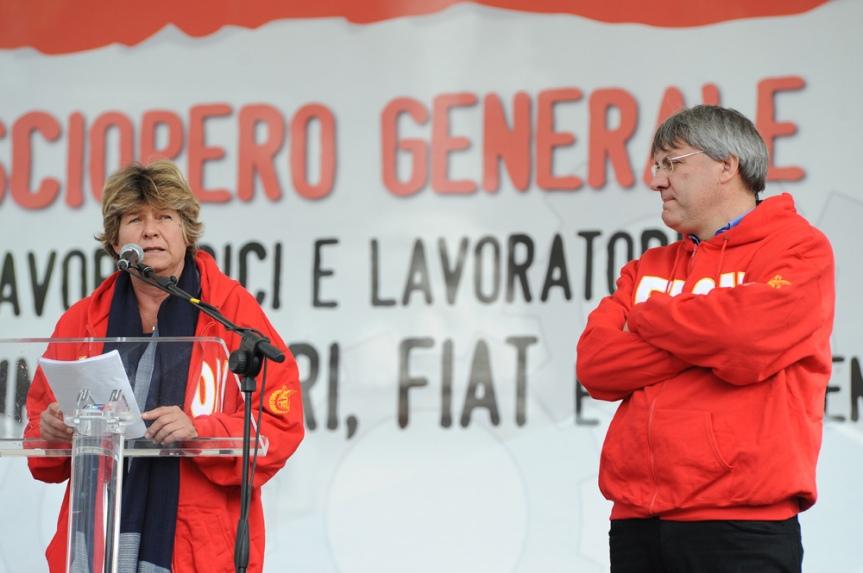 Susanna Camusso e Maurizio Landini