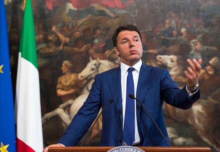 Conferenza stampa di Matteo Renzi