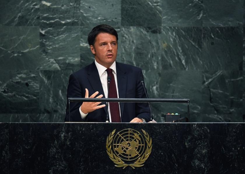Matteo Renzi all'Onu