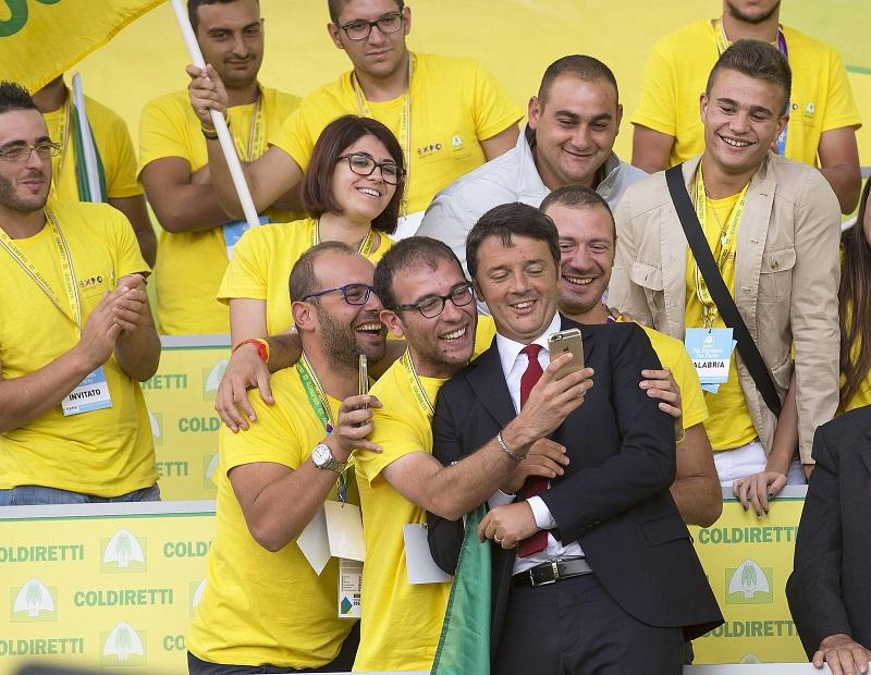 Matteo Renzi incontra la Coldiretti all'Expo