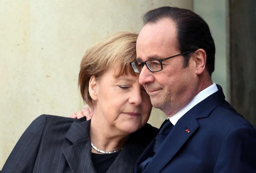 François Hollande e Angela Merkel [Foto AFP]