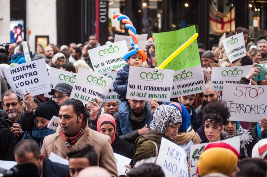 Not in my name - manifestazione contro il terrorismo islamico