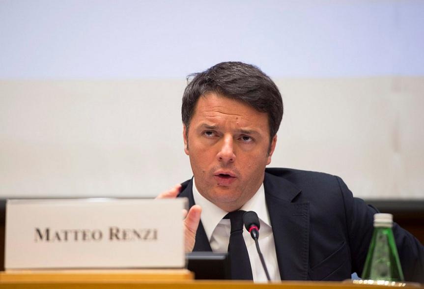 Matteo Renzi alla conferenza stampa di fine anno 2015