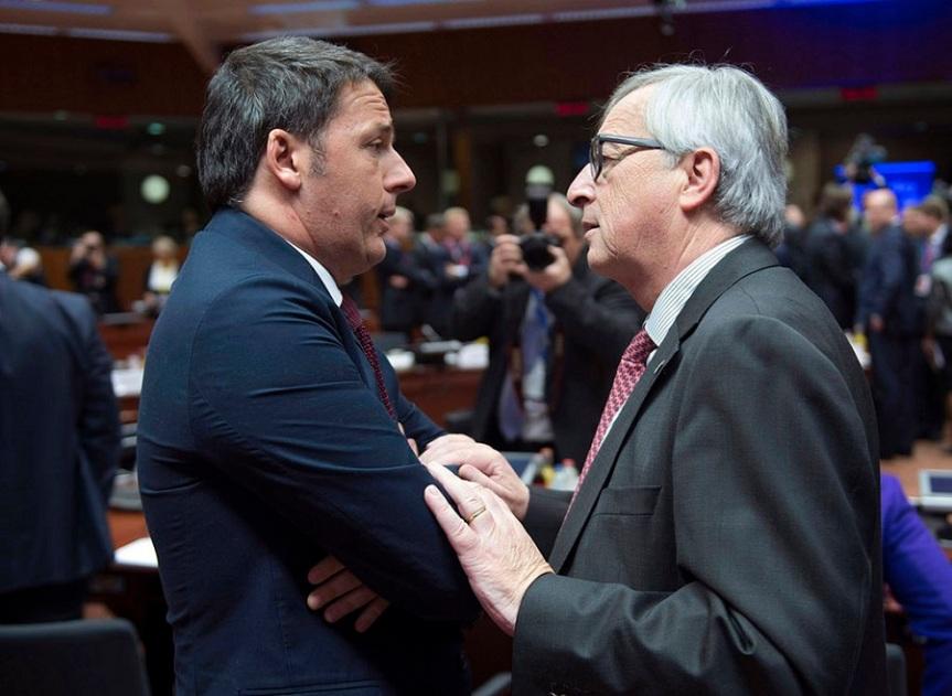 Matteo Renzi e Jean Claude Juncker